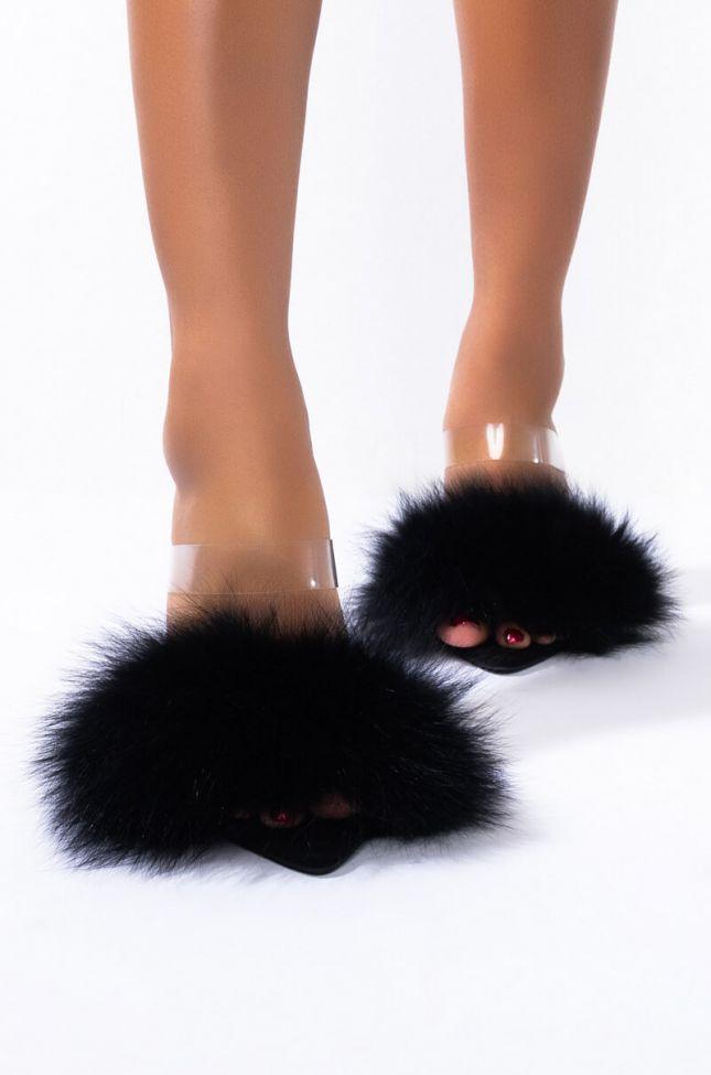 Back View Azalea Wang Take It Or Leave It Stiletto Heel Sandal In Black in Black
