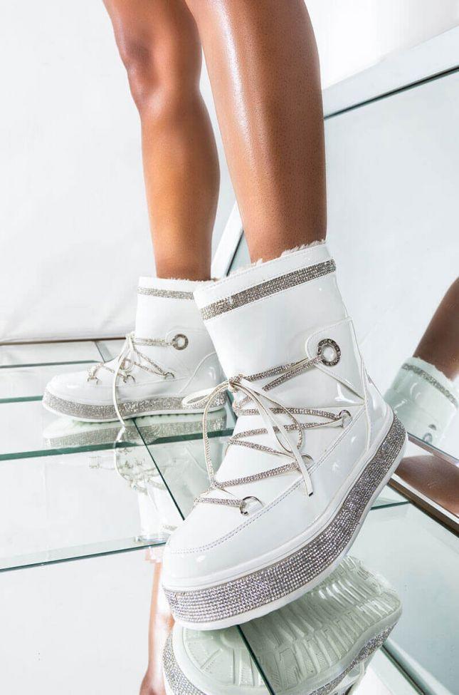 AZALEA WANG TAKE ME AWAY FLAT BOOTIE IN WHITE