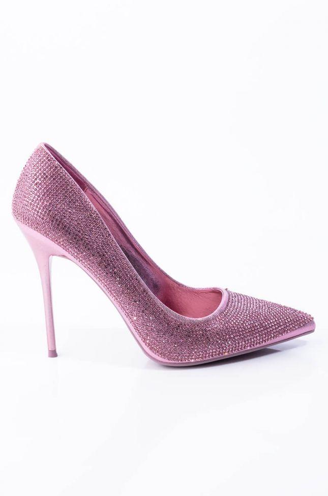 Back View Azalea Wang Take Me Home Stiletto Pump In Pink Multi in Pink Multi
