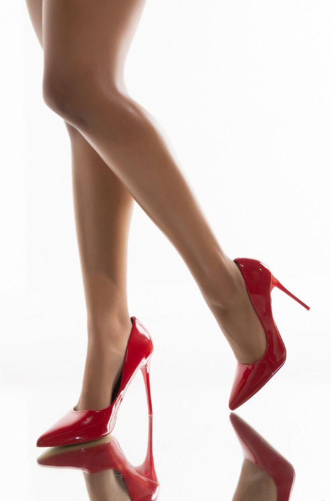 AZALEA WANG TAKE ME OUT STILETTO PUMP IN RED