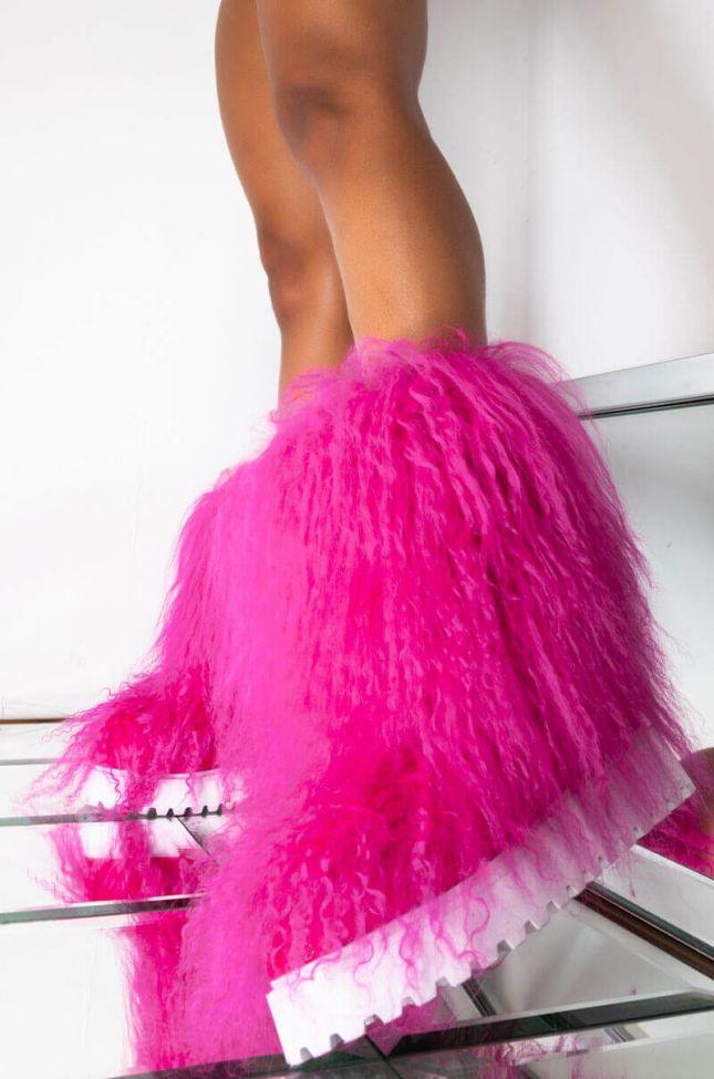 Front View Azalea Wang Telling It Like It Is Flat Bootie In Pink in Pink