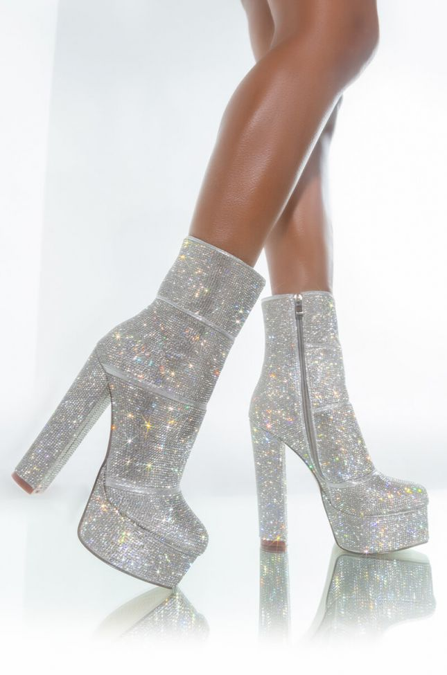 AZALEA WANG THEY ALL KNOW MY NAME CHUNKY BOOTIE IN SILVER