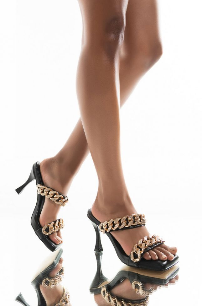 AZALEA WANG THEY COULD NEVER STILETTO SANDAL IN BLACK