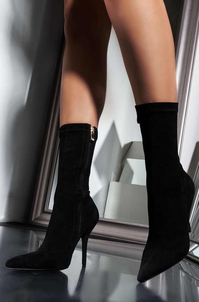 AZALEA WANG YOURE IN THE MOOD FOR A DANCE HIGH HEEL POINTED TOE BOOTIE