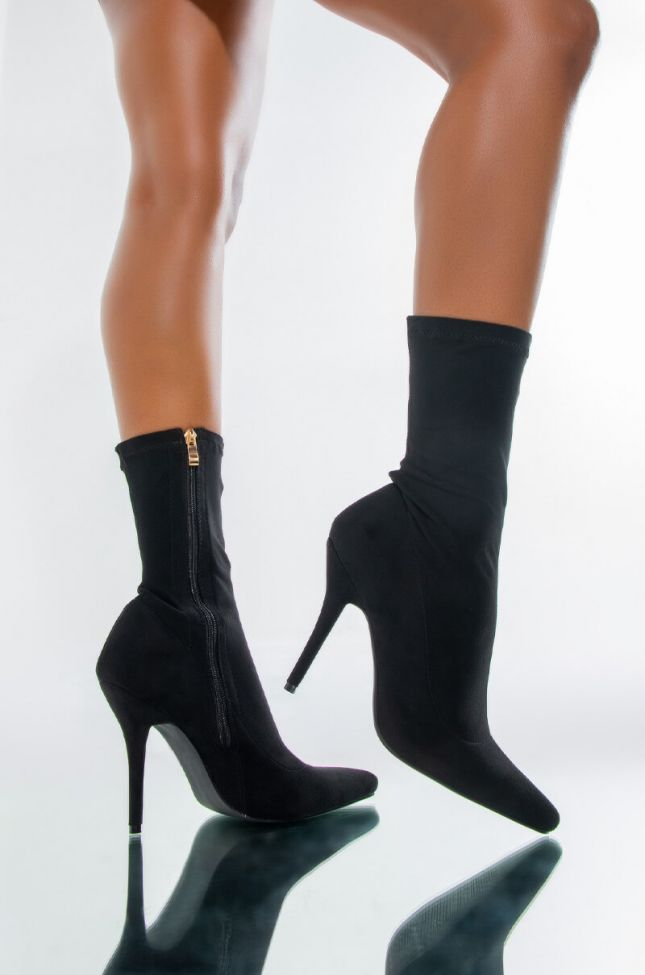Front View Azalea Wang Youre In The Mood For A Dance High Heel Pointed Toe Bootie