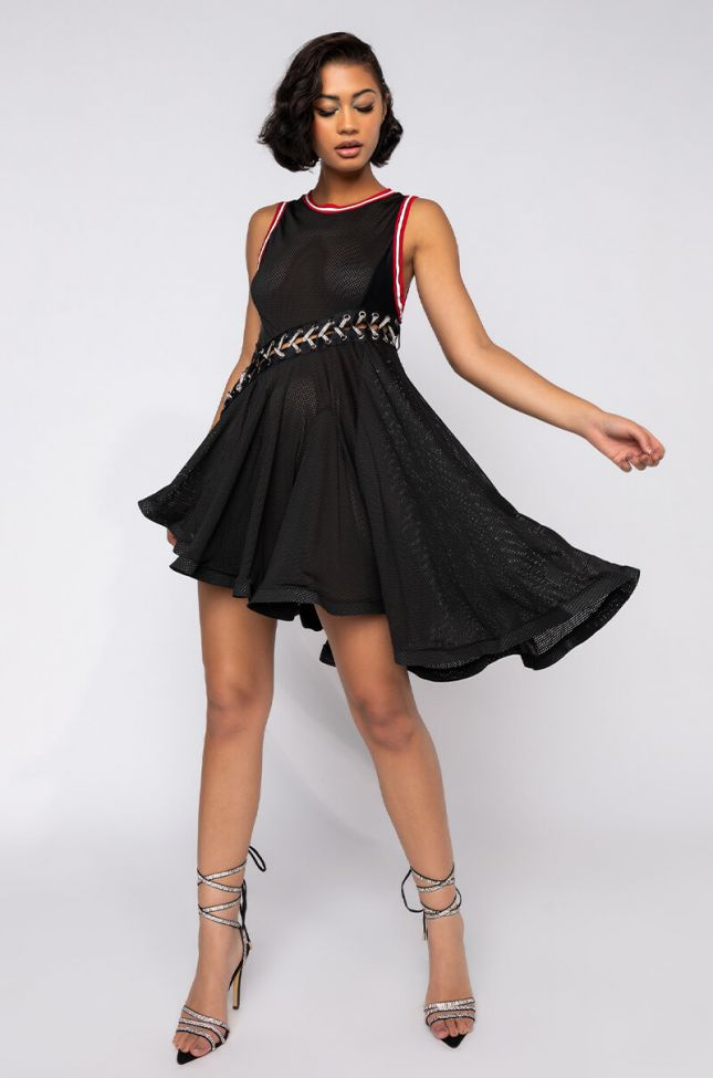 Full View Babes Mini Dress in Black