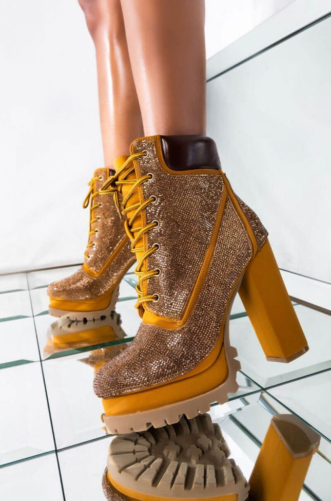 BABY COME THRU CHUNKY LACE UP BOOTIE