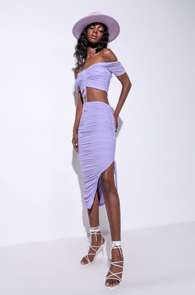 Extra View Baby Doll Ruched Midi Skirt