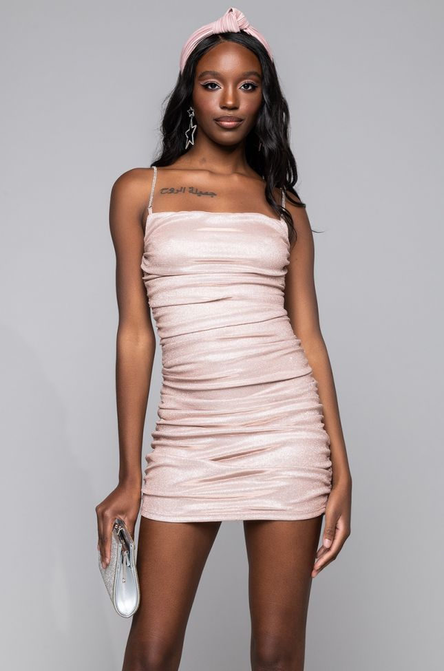 Front View Being Fab Is Easy For Me Mini Dress in Pink