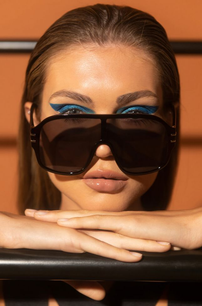 Front View Best Assets Aviator Sunnies in Brown