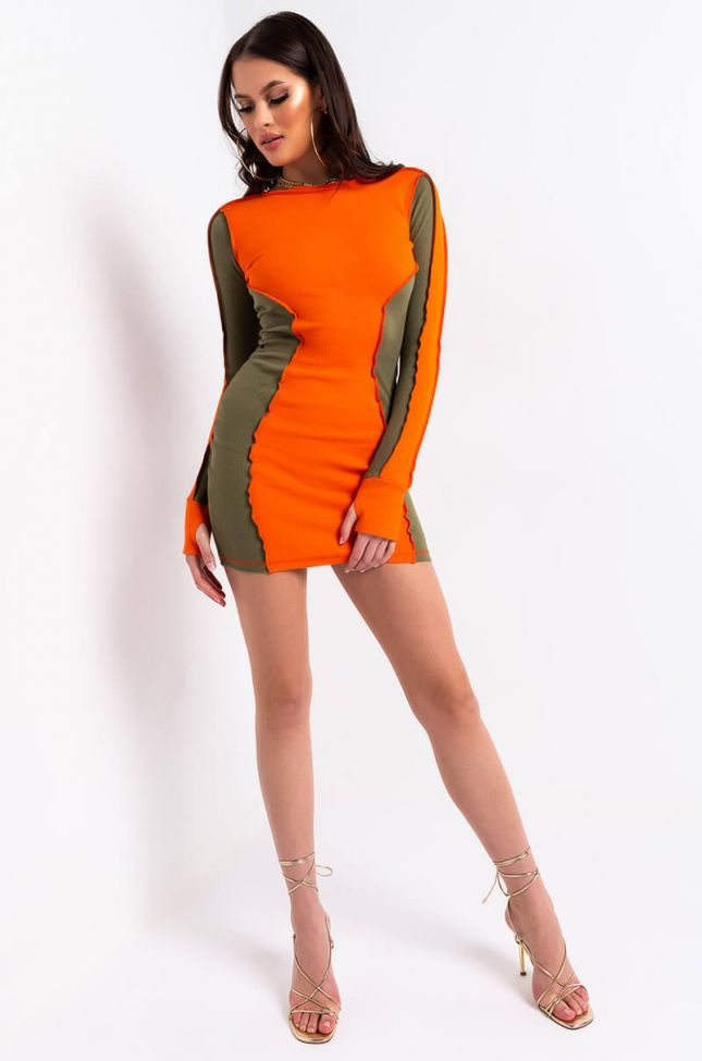 Full View Best I Ever Was Two Tone Dress in Orange
