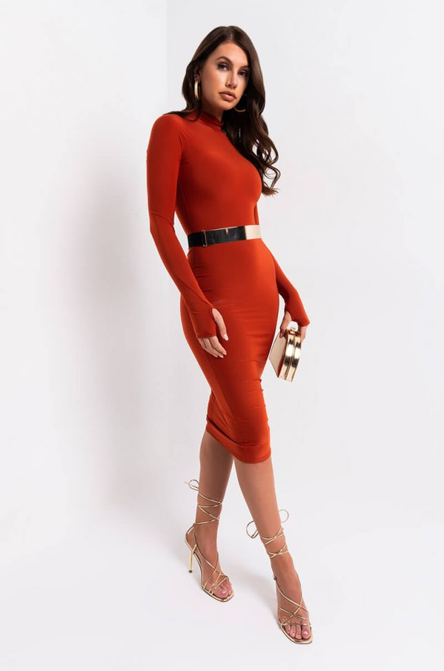 BEST YOU EVER HAD BODYCON DRESS WITH THUMBHOLES