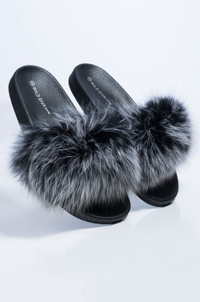 Full View Better Together Flat Sandal in Black Multi