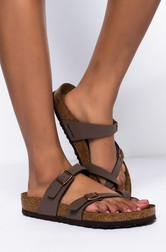 Side View Birkenstock Mayari Sandal in Mocha