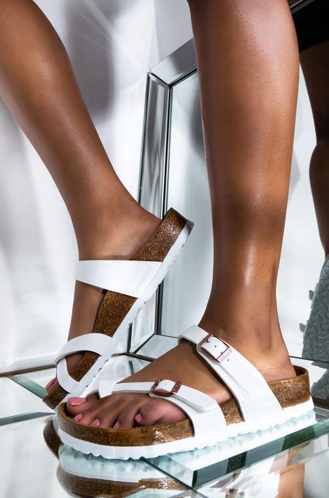 Front View Birkenstock Mayari Sandal in White