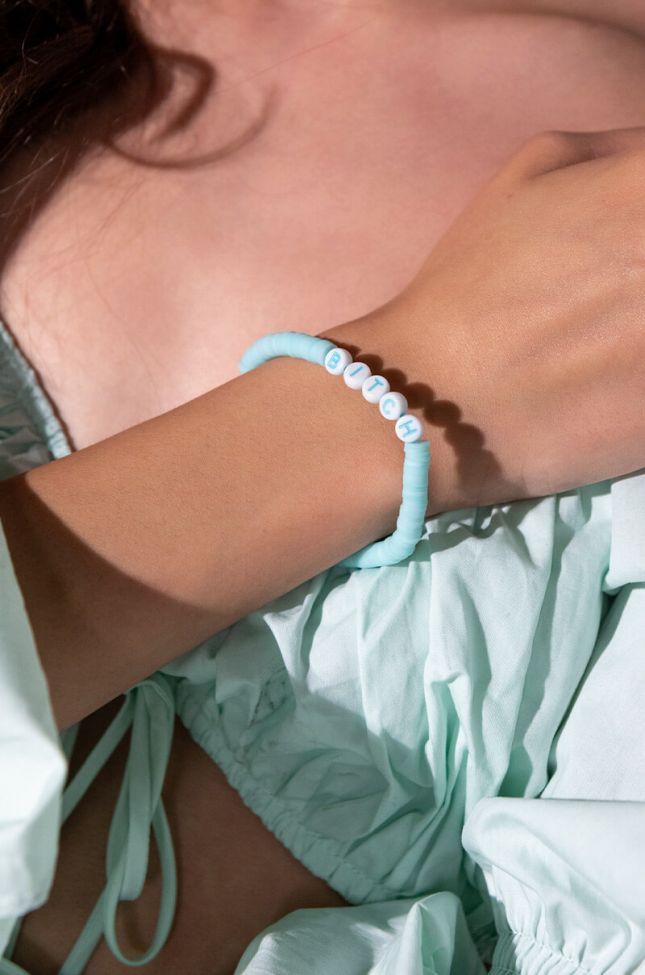 Front View Bitch Beaded Bracelet