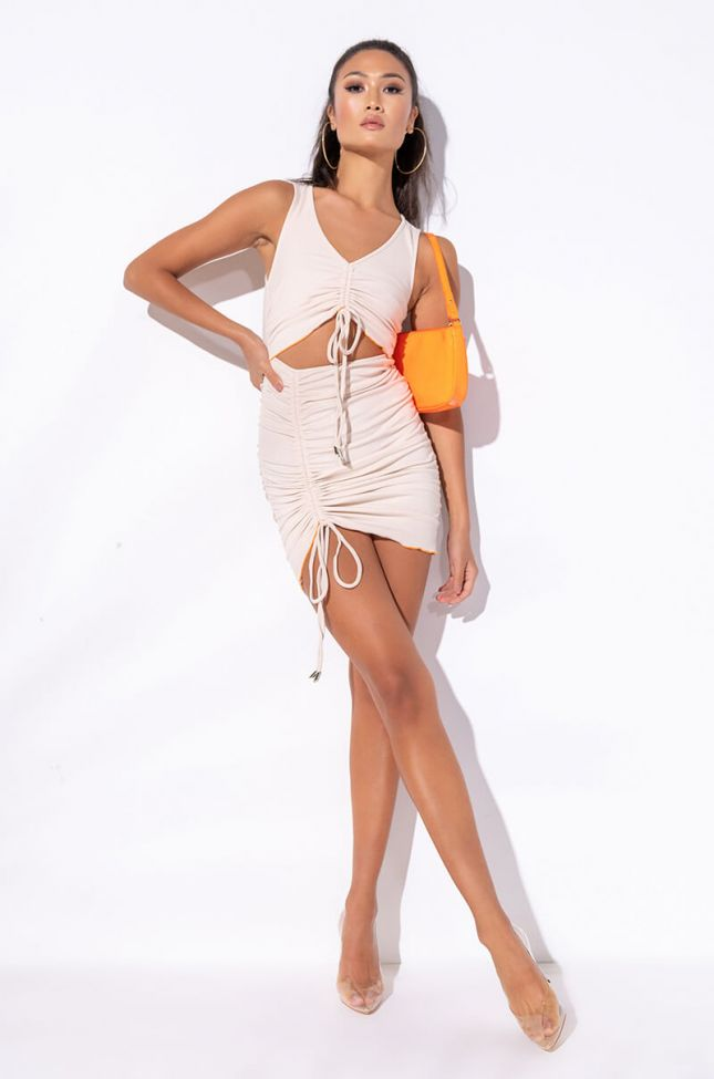 BITTY FROM THE BLOC RIBBED CUT OUT DRESS