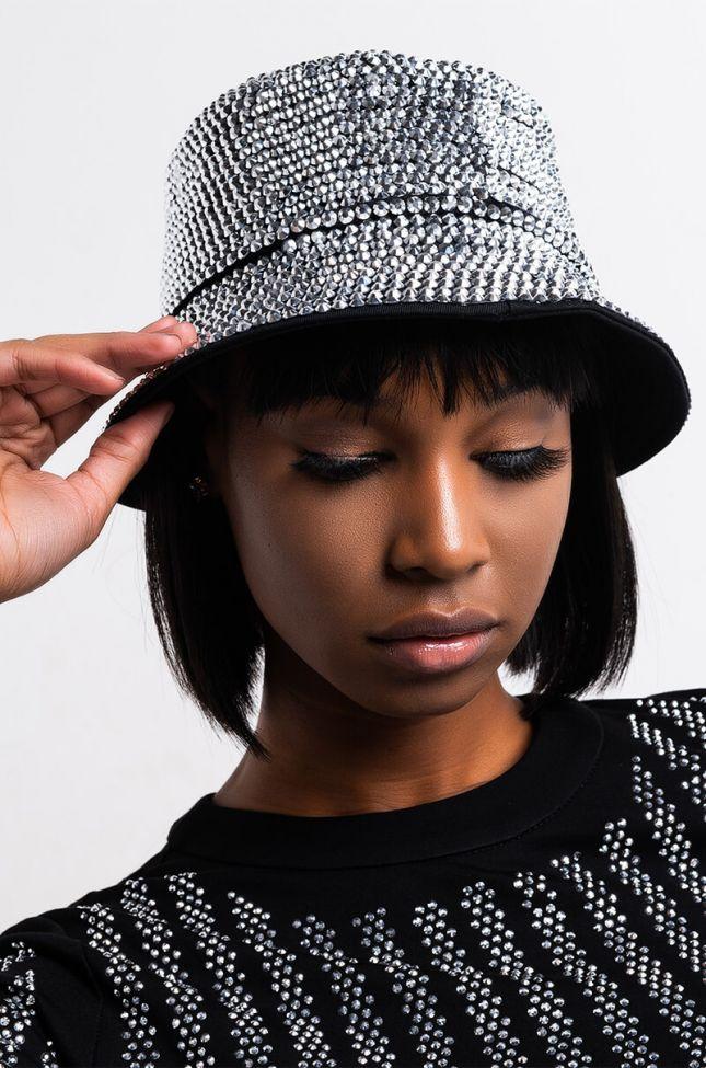 Front View Bling Queen Bucket Hat