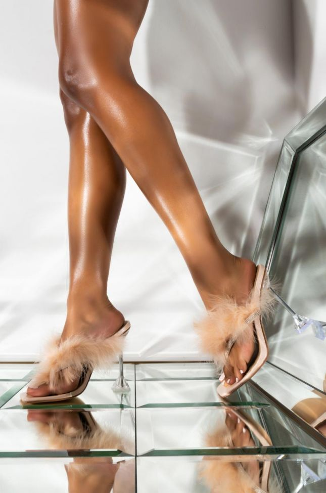 Front View Buss It Stiletto Sandal in Nude