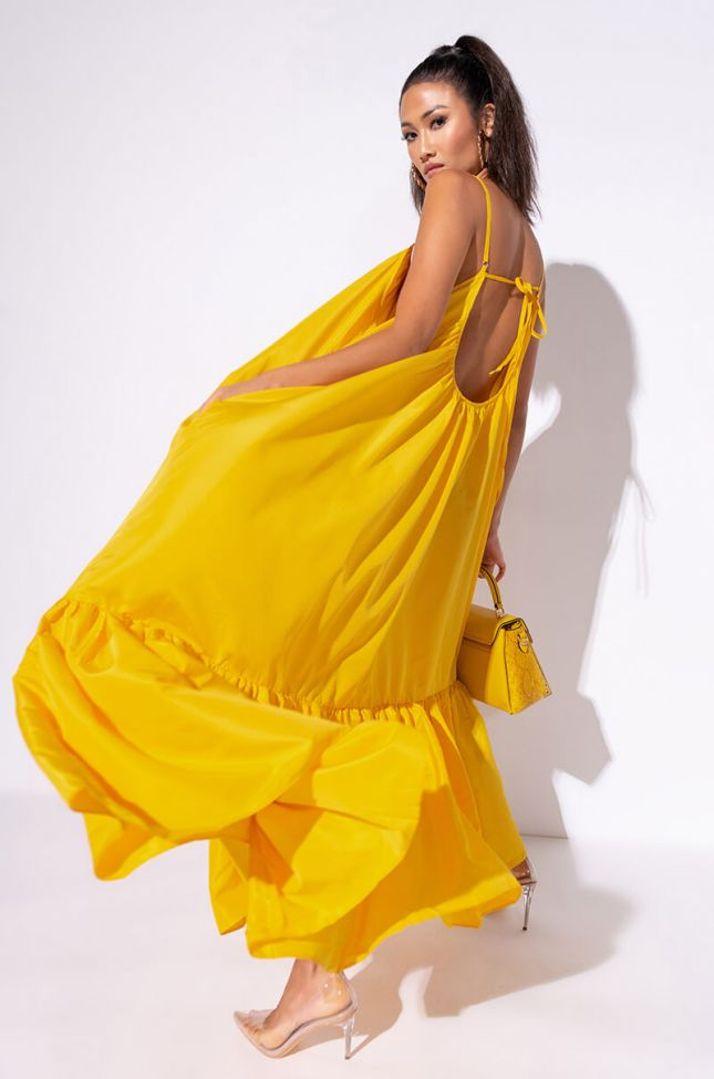 Side View Busy Living Maxi Dress in Yellow