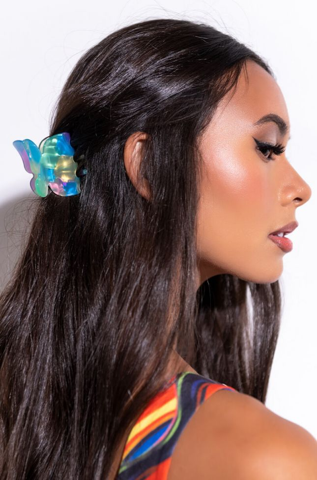 Front View Butterfly Hair Clip