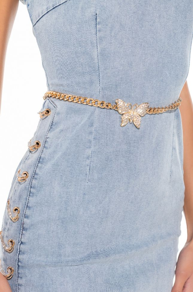 BUTTERFLY KISSES BELLY CHAIN