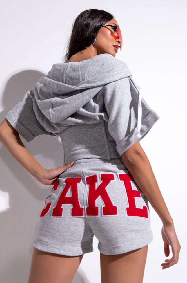 Full View Cake Patchwork Sweat Shorts
