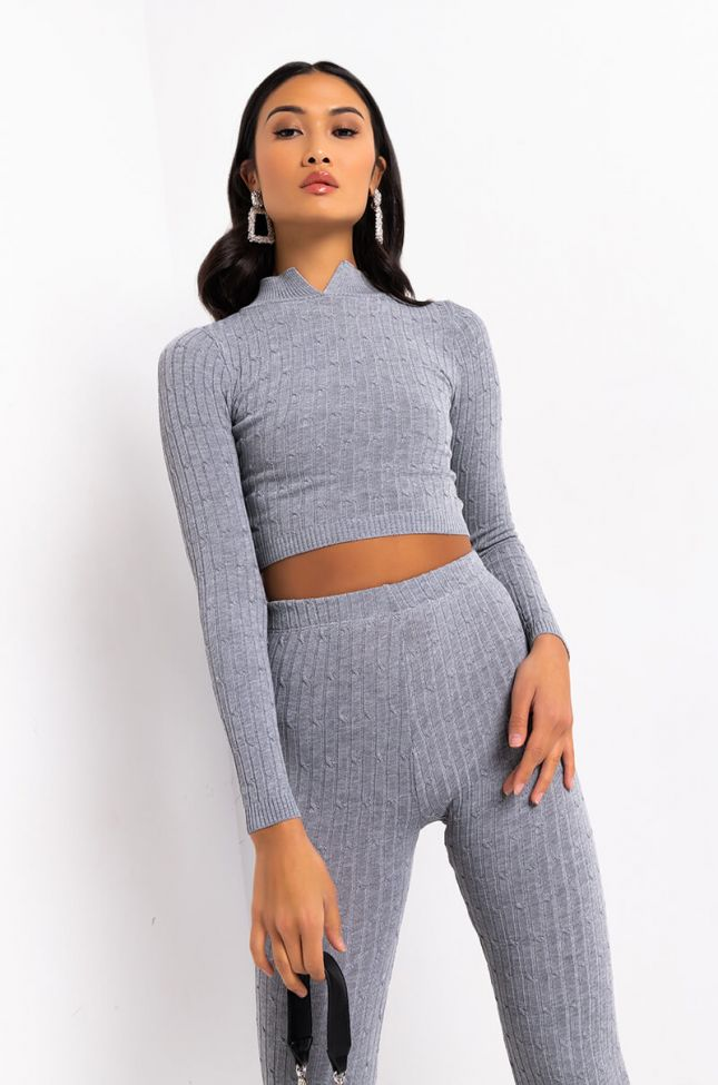 Front View Call Me Your Boo Mock Neck Long Sleeve Top in Royal Blue