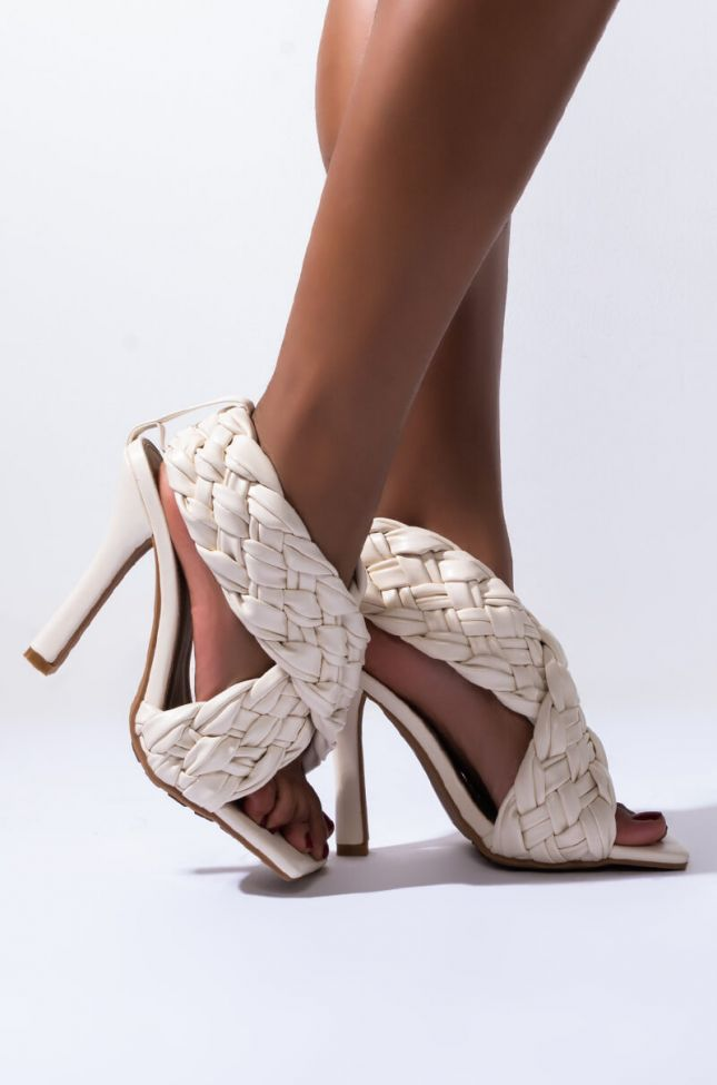 Side View Call You Mine Slip On Sandal in Nude