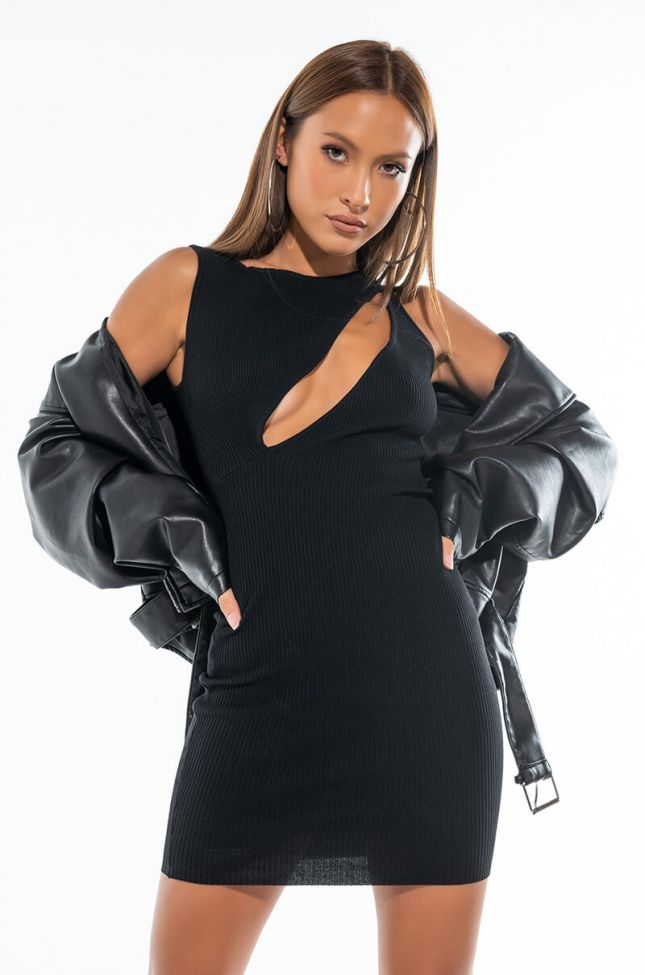 CAN'T LET ME GO MINI DRESS WITH CUT OUT
