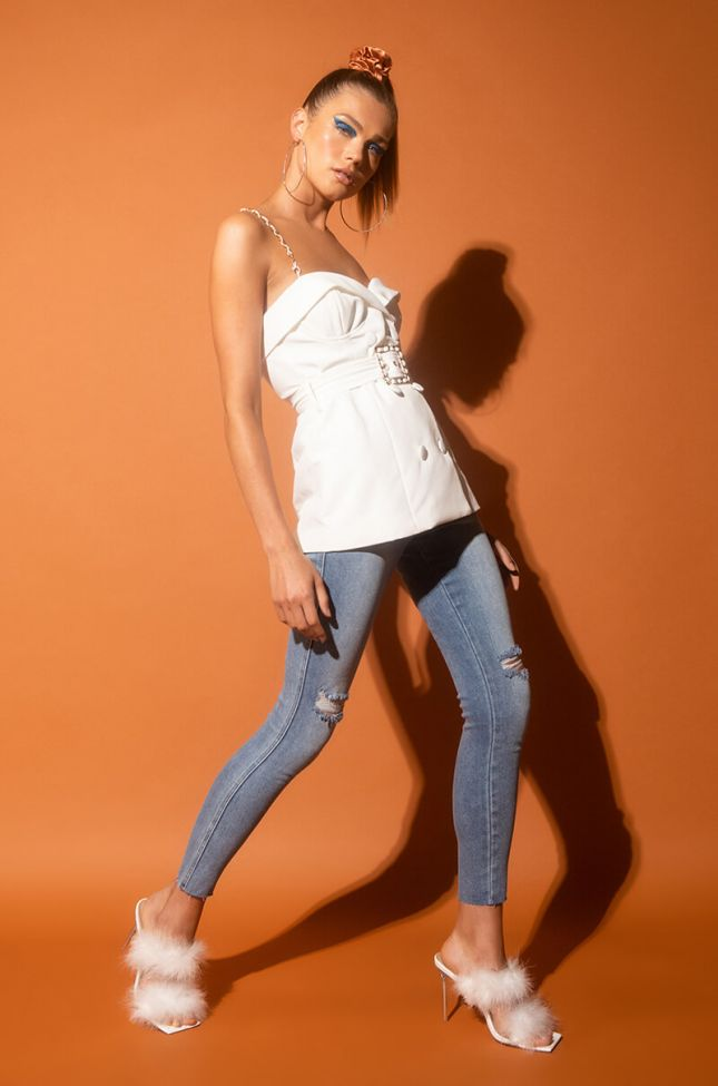 Catch Me High Rise Skinny Jeans in Light Blue