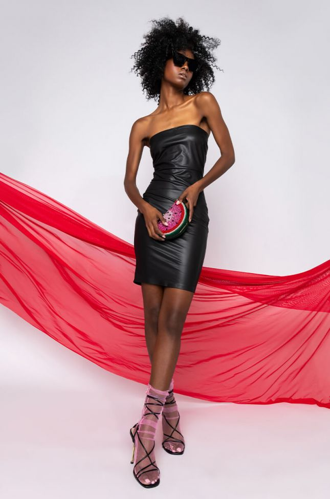 Full View Catch Them Looking Mini Bodycon Tube Dress in Black