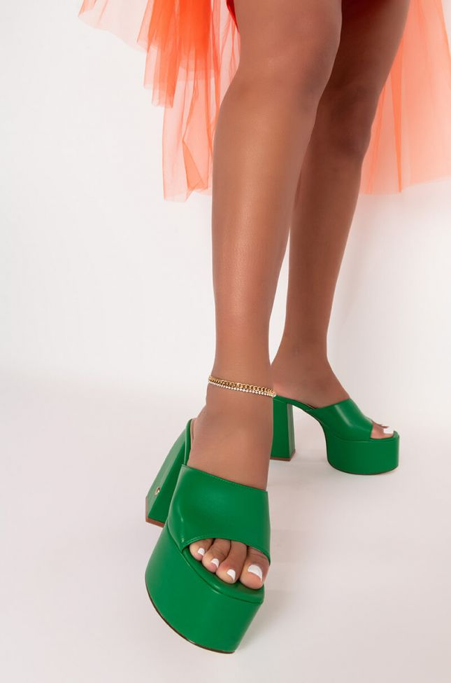Front View Chain Bling Anklet