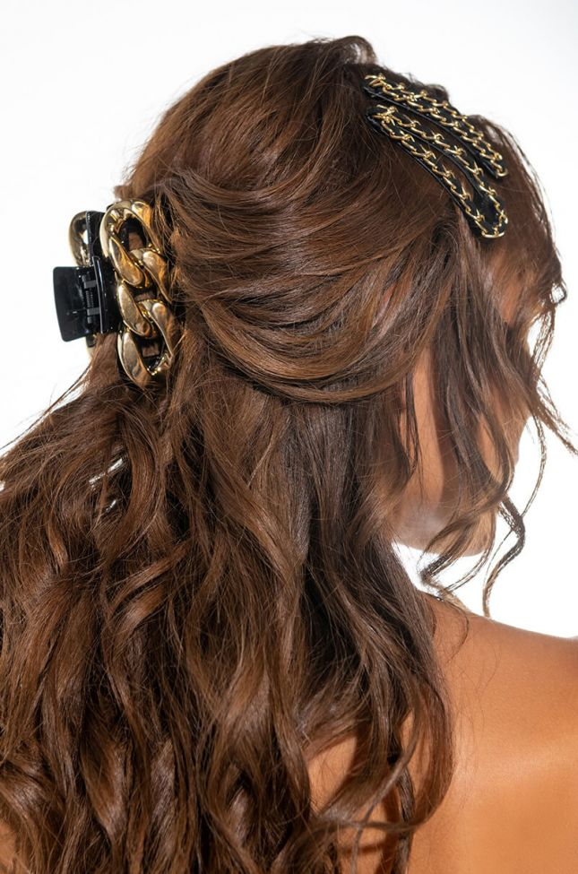 Front View Chain Hair Clamp