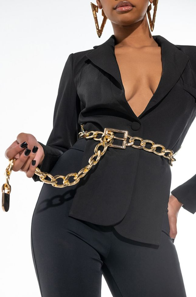 Front View Chain Link Belt