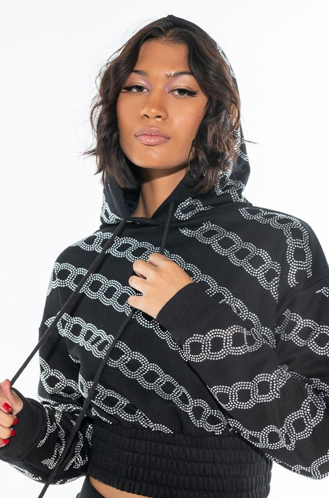 Front View Chained Down Sweatshirt