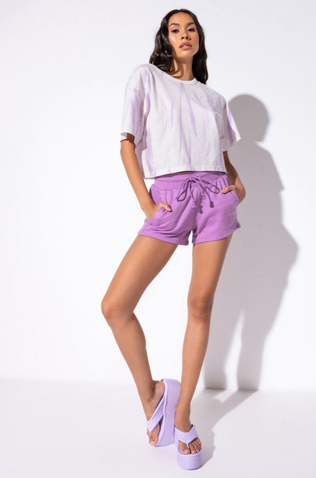 Full View Champion Reverse Weave Shorts in Light Purple