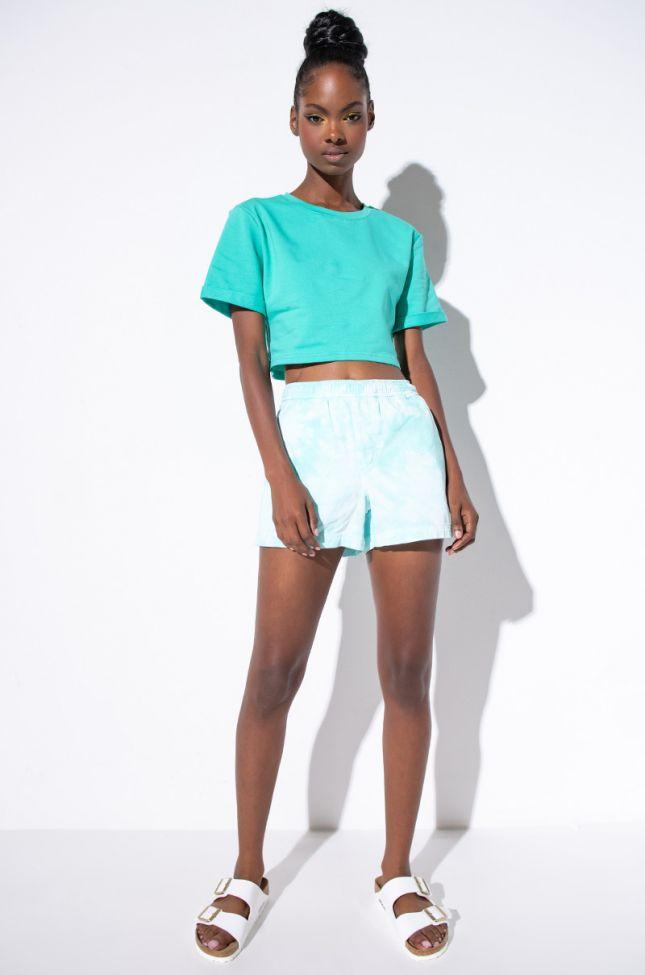 Champion Watercolor Dye Twill Shorts in Mint