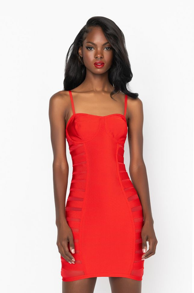 Front View Classy Bitch Mini Tank Dress in Red