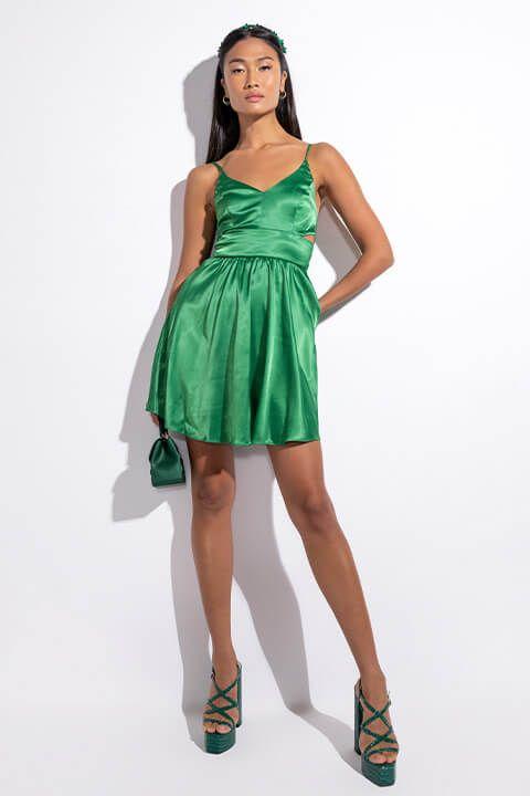 Extra View Classy Looks Mini Satin Dress