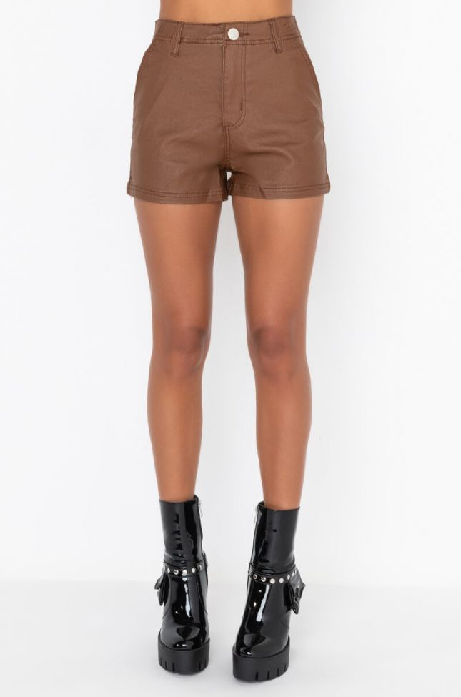 CLUB FAUX LEATHER SHORTS