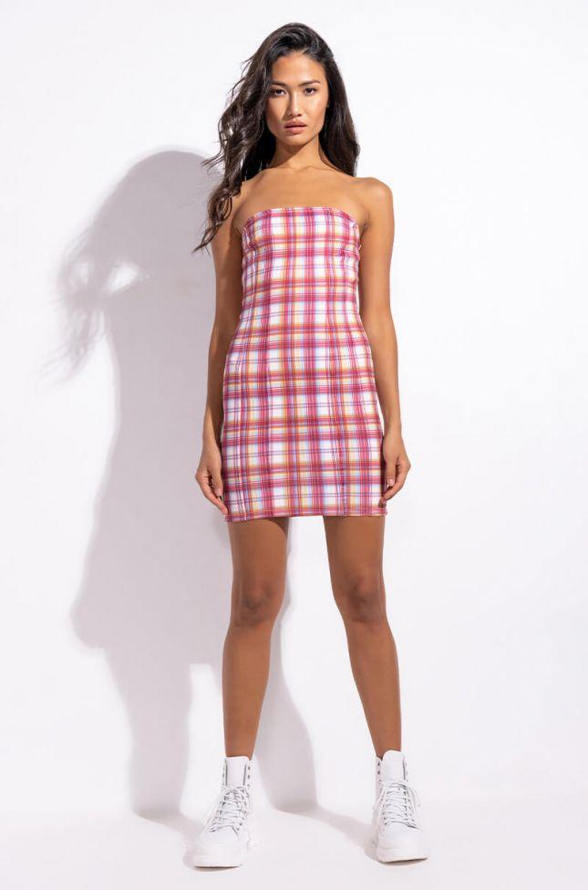 Extra View Clueless Plaid Stretch Mini Dress