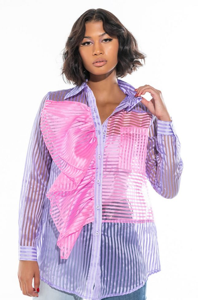 COTTON CANDY LONG SLEEVE BLOUSE