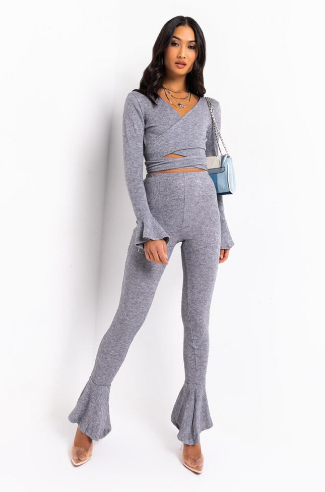 Full View Cozy And Cute Legging in Heather Grey