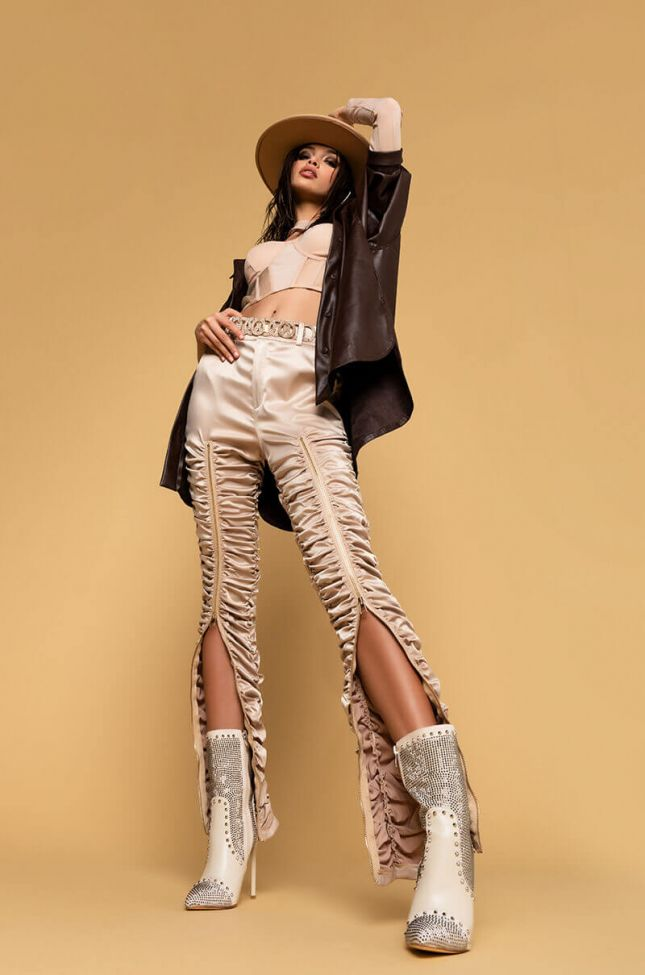 Crave Your Love Stacked Pant in Beige