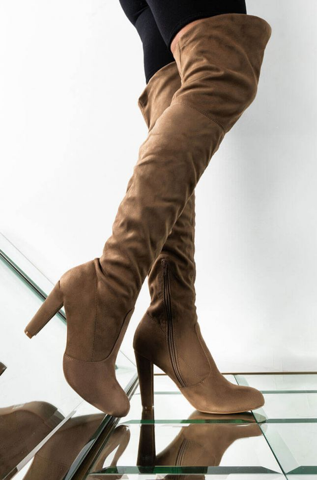 Front View Craving You Chunky Boot in Taupe