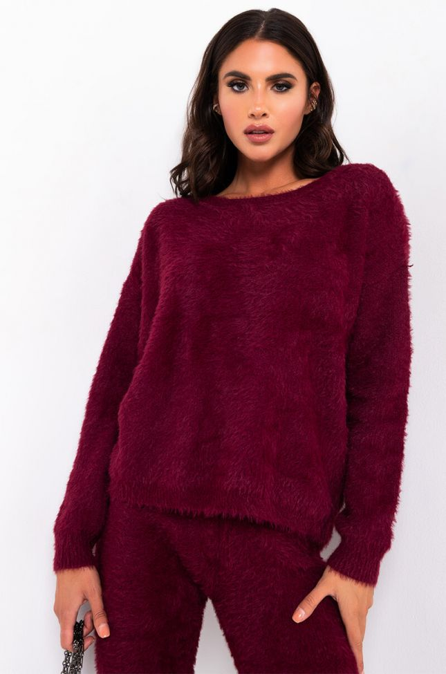 CRAZY COMFY COOL FUZZY WRAPPED SWEATER