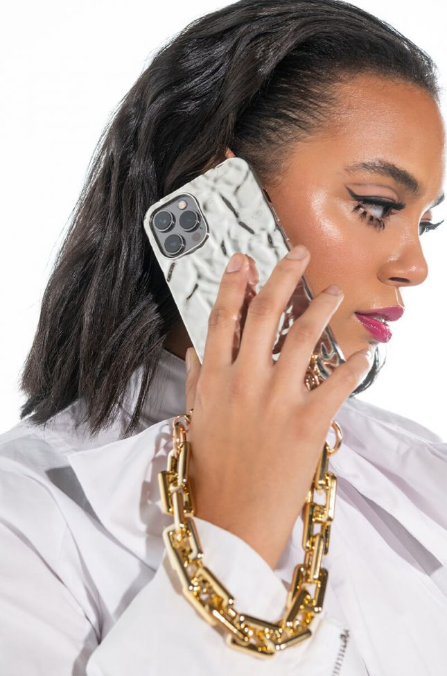 CRUSHED MIRROR IPHONE 12 PRO MAX CASE WITH CHAIN