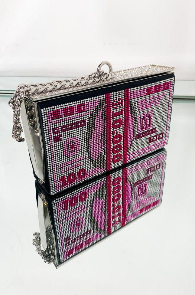 Crystal Money Bag in Pink Multi