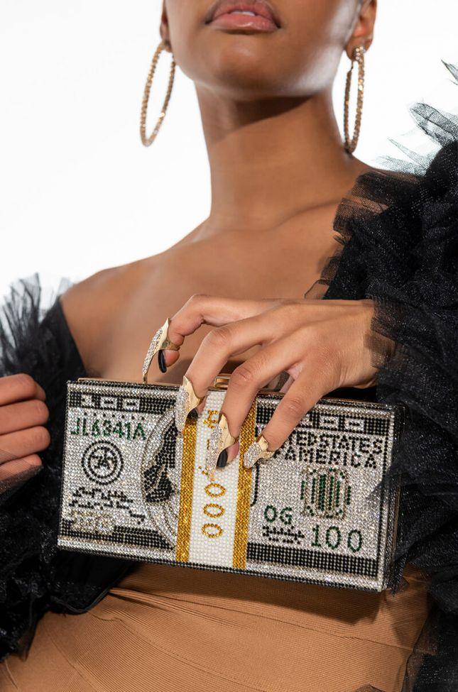 CRYSTAL MONEY, HONEY CLUTCH